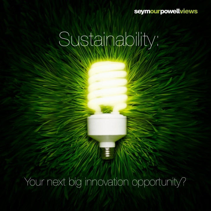 Sustainability:Your next big innovation opportunity?