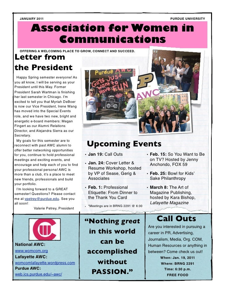 AWC January 2011 Newsletter