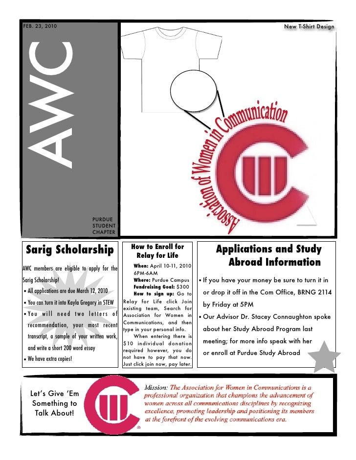 Awc newsletter feb. 2010