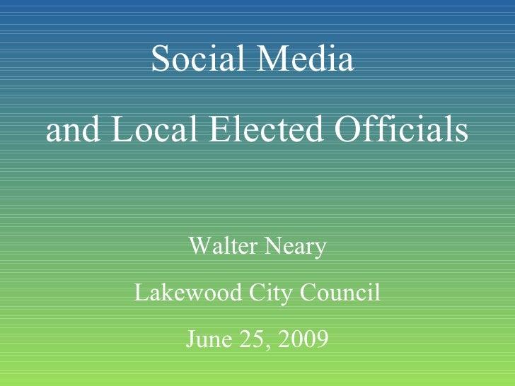 Social Media and Elected Officials