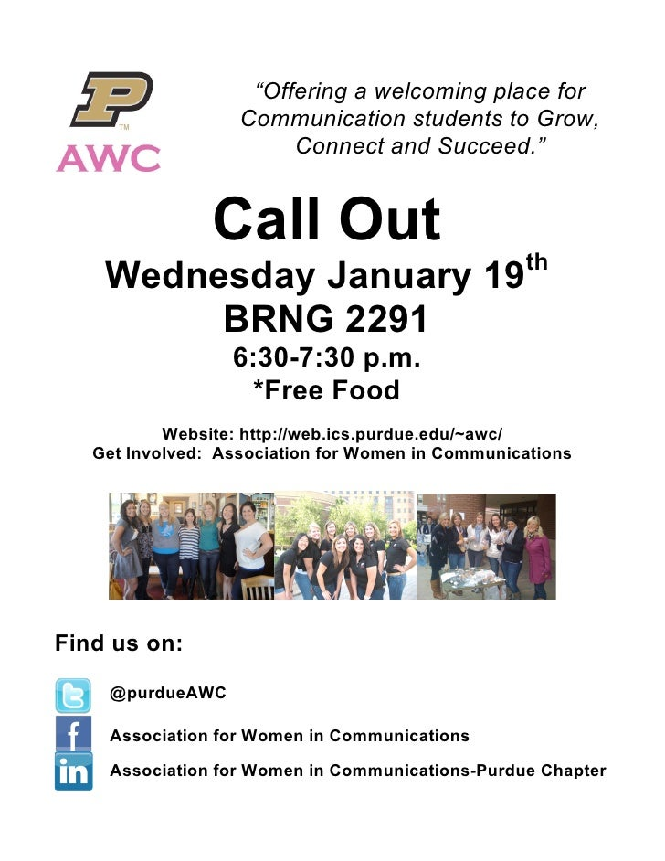AWC Spring 2011 Call Out