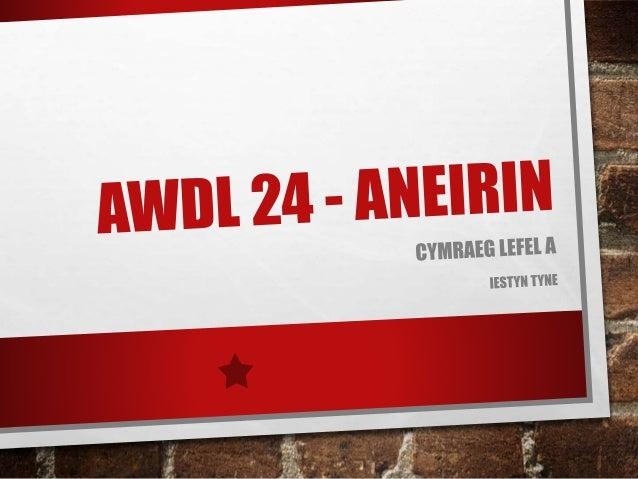 Aneirin awdl 1