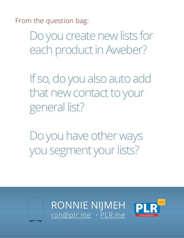 Aweber List Segmentation and Automation