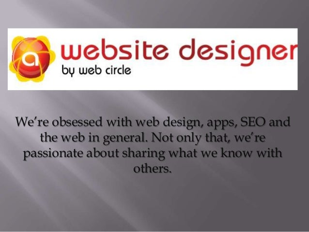 We're obsessed with web design, apps, SEO and the web in general. Not only that, we're passionate about sharing what we kn...