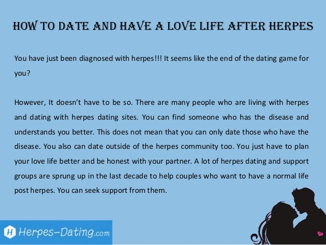 Herpes responsible dating