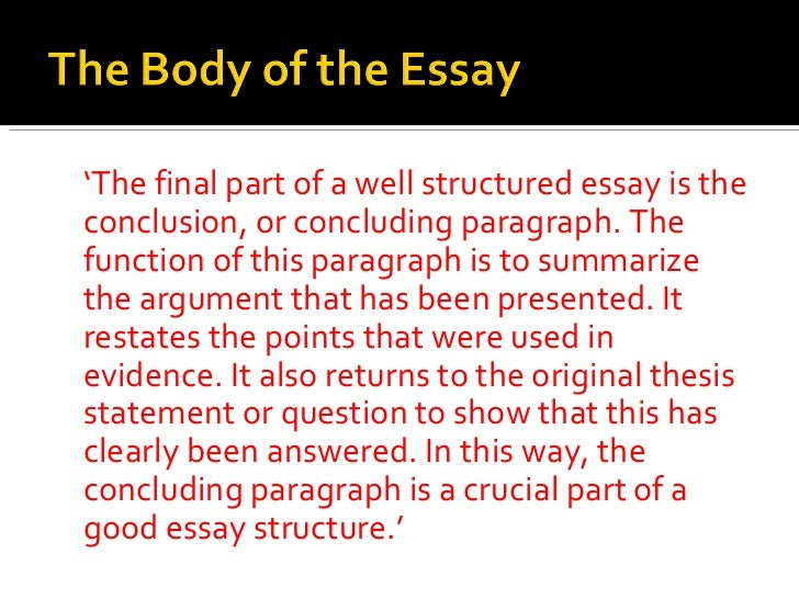 structure and function essay