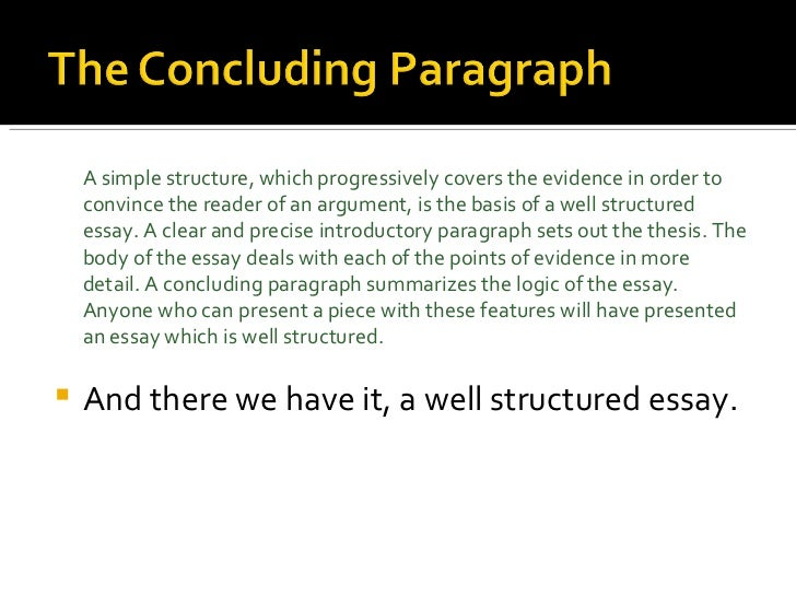 Perfect Essay Structure