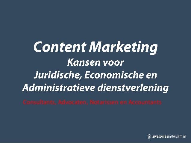 Content Marketing voor Financiele en Juridische Dienstverlening