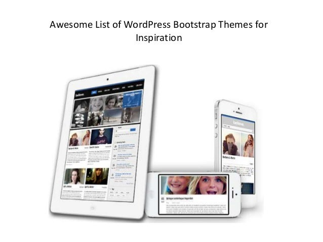 Awesome List of WordPress Bootstrap Themes forInspiration