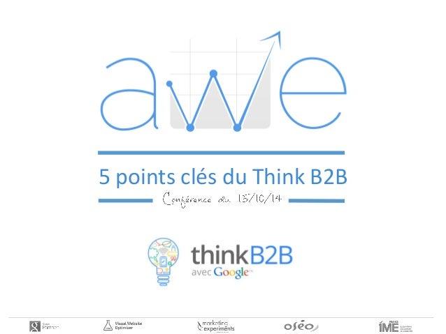 5 points clés du Think B2B