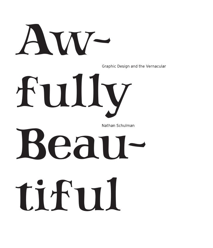 Aw- fully Beau- tiful