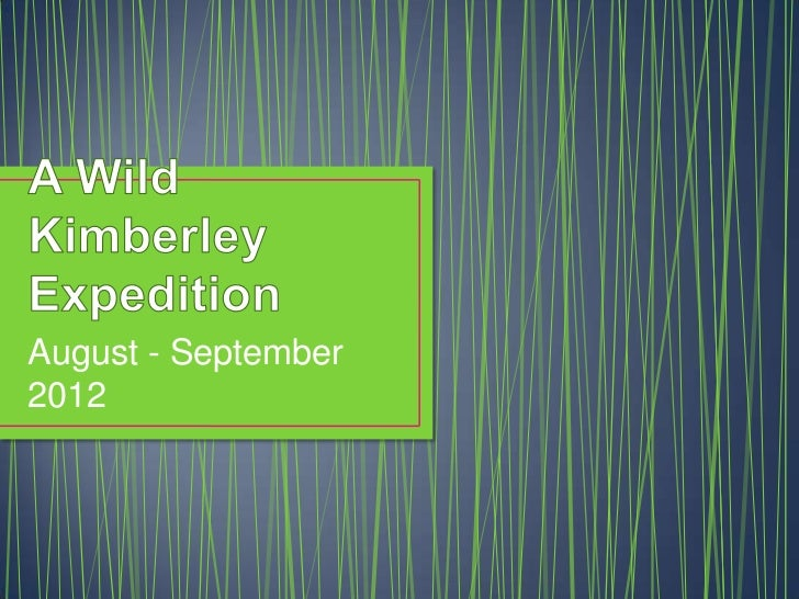 A wild kimberley expedition