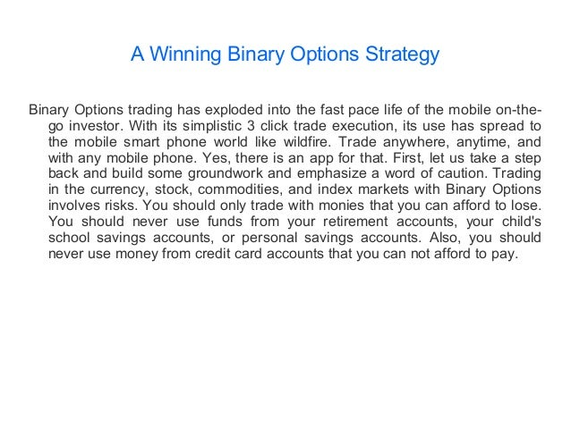 Binary options strategy guide