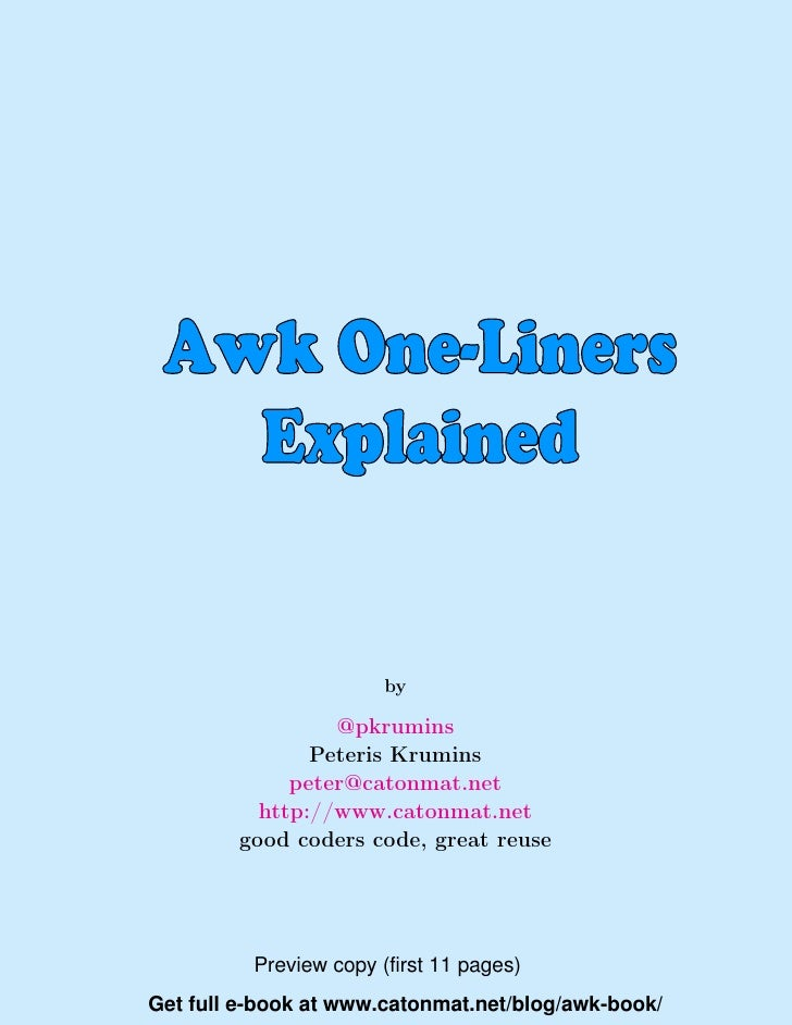 Awk Unix Utility Explained