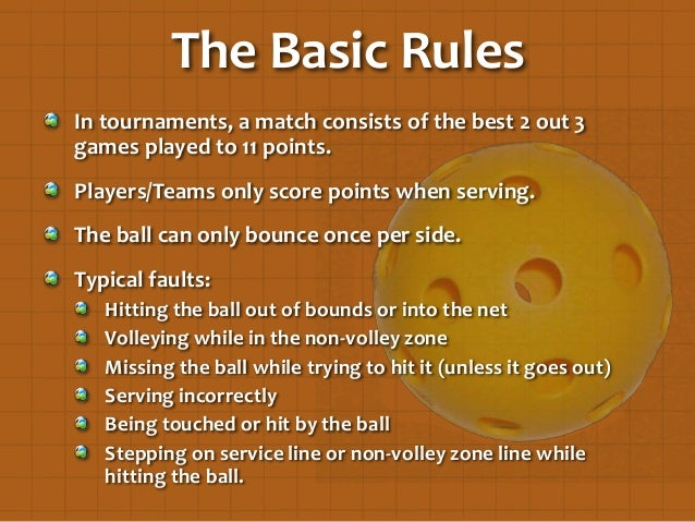 A world of pickleball for 10 table tennis rules