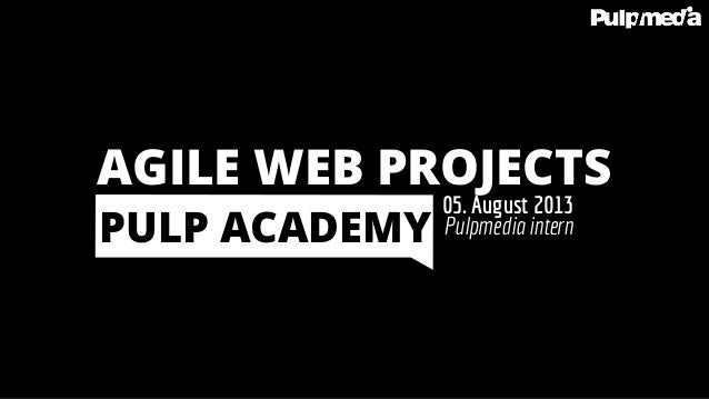 Agile Web Projects