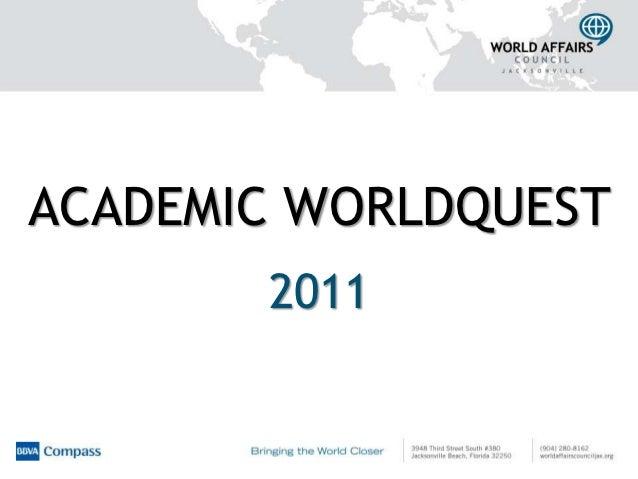 ACADEMIC WORLDQUEST       2011