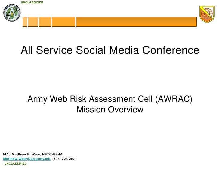 AWRAC overview All Service Social Media Conference 23 sep 2010