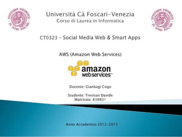 AWS (Amazon Web Services) - Trevisan Davide