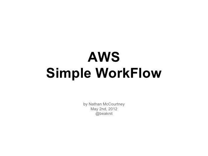 Aws dc simple-workflow