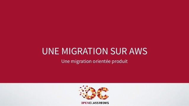 UNE MIGRATION SUR AWS Une migration orientée produit