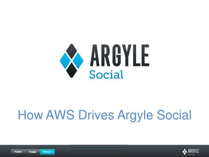 How AWS Drives Argyle Social<br />