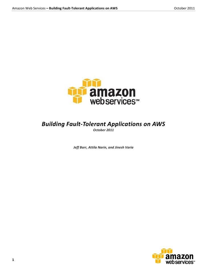 Aws building fault_tolerant_applications
