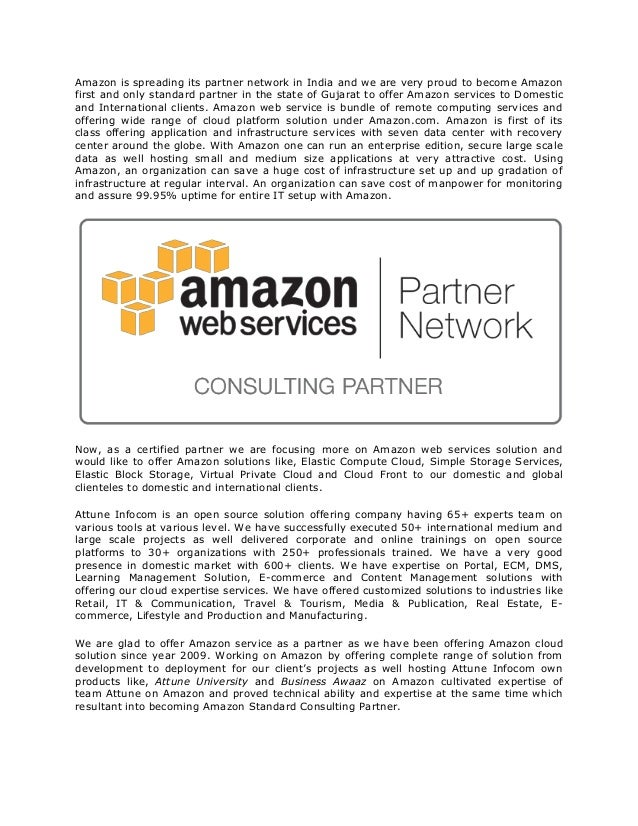 Amazon is spreading its partner network in India and we are very proud to become Amazonfirst and only standard partner in ...