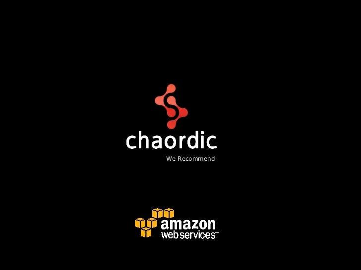 Apresentacao do estudo de caso AWS do cliente Chaordic Systems
