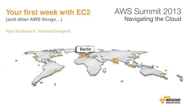 Ryan Shuttleworth, Technical EvangelistYour first week with EC2(and other AWS things…)