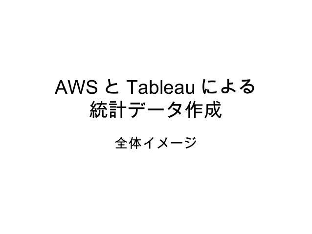 AWS と Tableau による 統計データ作成 全体イメージ