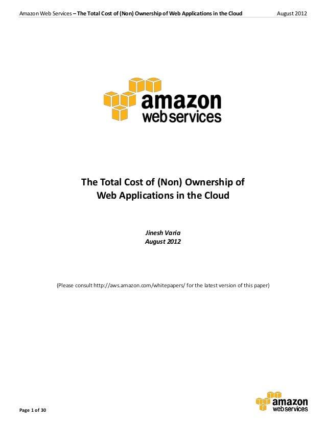 Aws tco web_applications