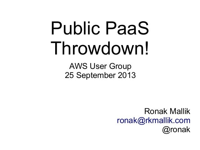 Public PaaS Throwdown!