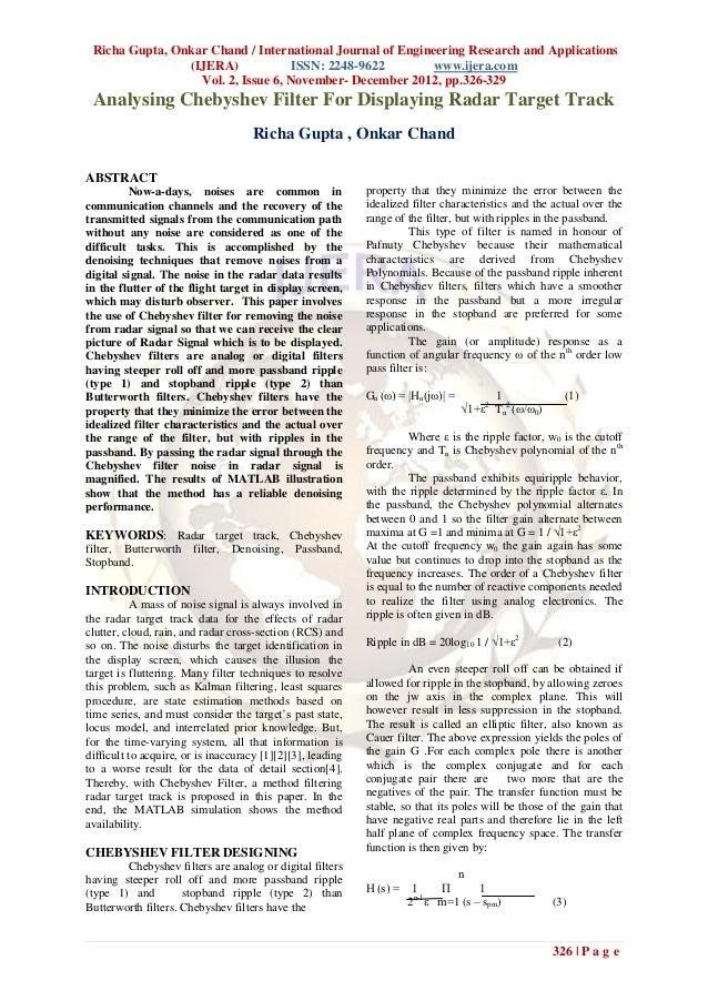 Richa Gupta, Onkar Chand / International Journal of Engineering Research and Applications                (IJERA)          ...