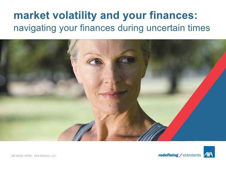 Axa Market Volatility Slideshow