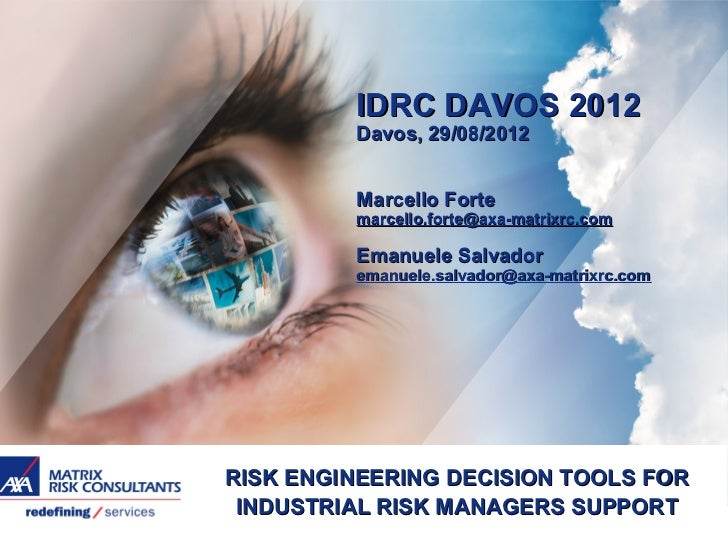 Risk engineering decision tools for risk management support