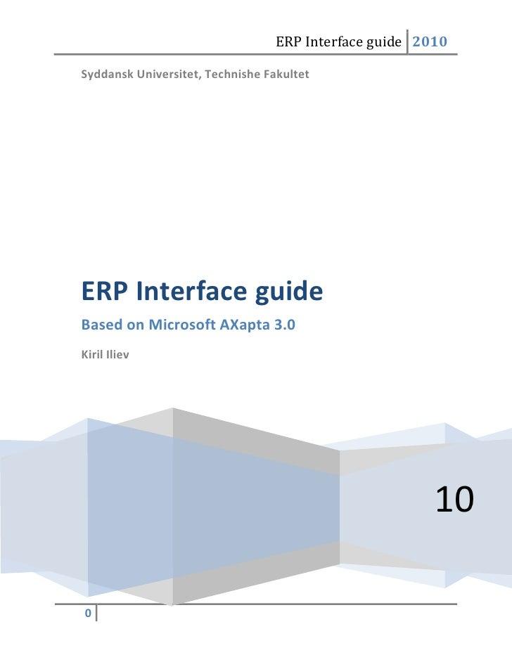 Axapta Interface Guide