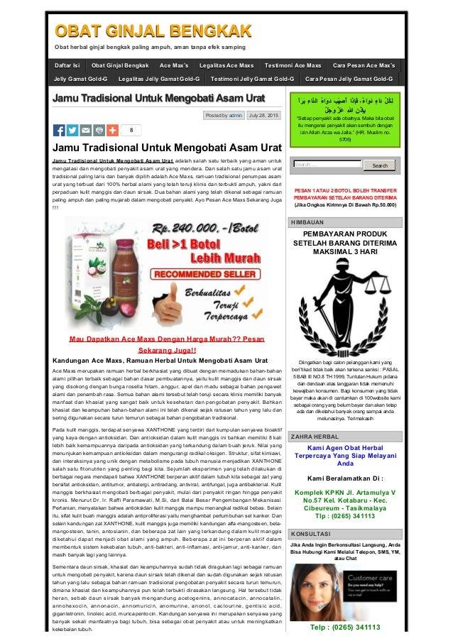 jamu tradisional untuk mengobati asam urat obat ginjal