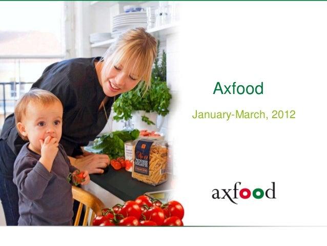 Axfood q1 2012