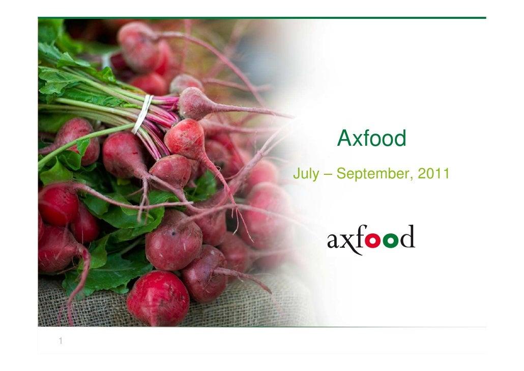 Axfood q3 2011 presentation