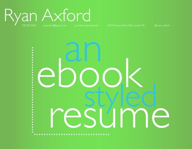 An Ebook Styled Resume