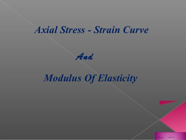 Axial Stress - Strain Curve And Modulus Of Elasticity  Yasin , Aust