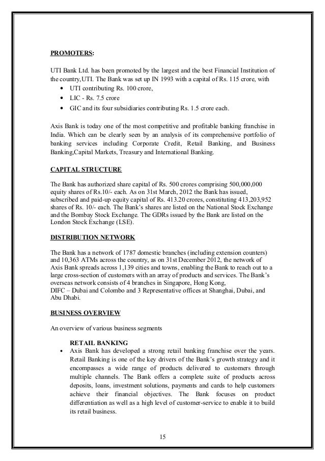 """analysis of capital structure of axis bank Synopsis report on """"analysis of working capital management"""" axis bank analysis & interpretation of working capital of axis bank gives overall financial view of axis bank in the banking sector to determine the quantum and structure of current assets."""