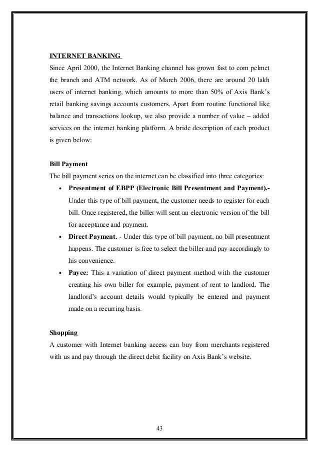 Dissertation proposal internet banking