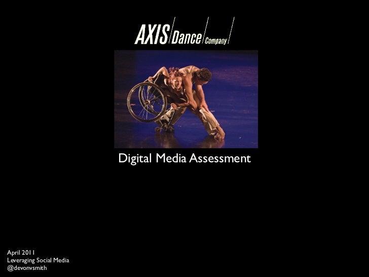 Axis Dance Digital Media Assessment