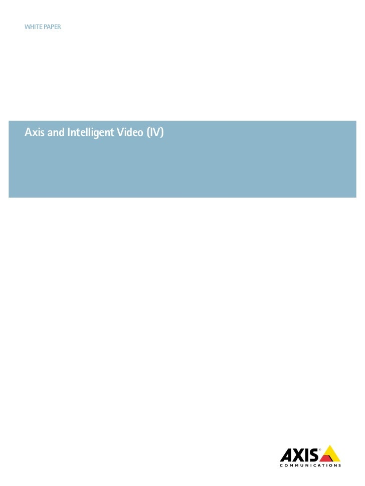 Axis Intelligent Video
