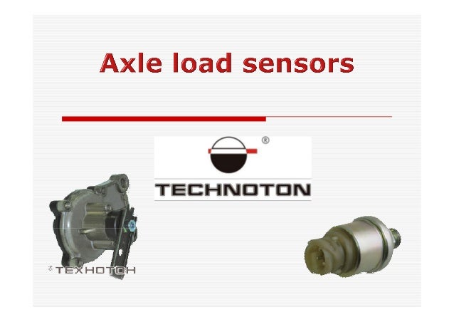 Axle Load Sensor Dde08 Weight Control On Transport