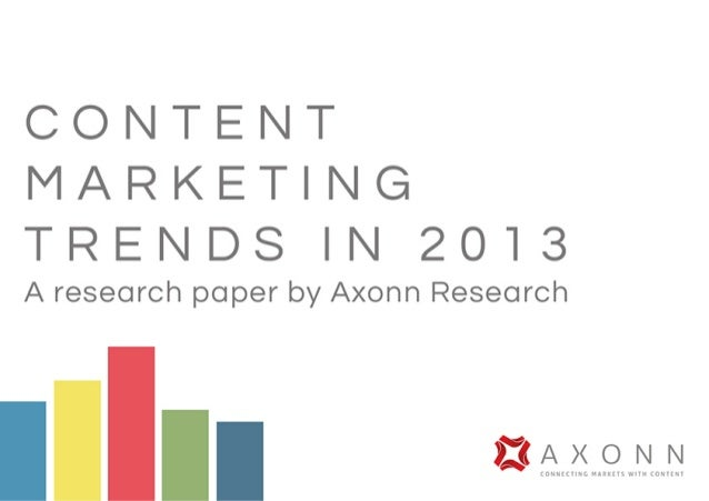 Full report: Axonn Research content marketing trends in 2013