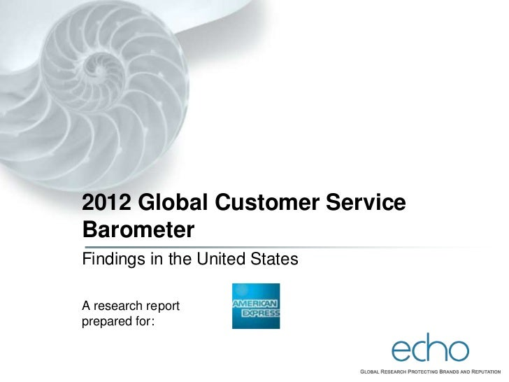 2012 Global Customer ServiceBarometerFindings in the United StatesA research reportprepared for:
