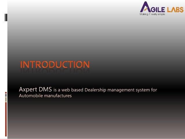 Axpert  Dealer Management System